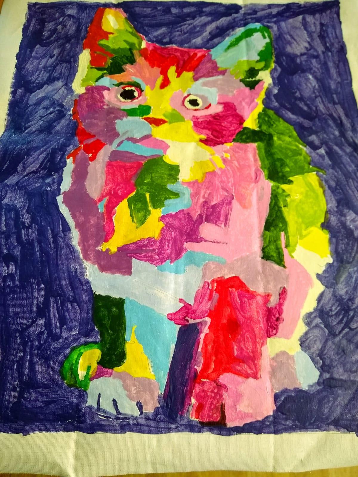Emma's Cat Painting LD Week 21